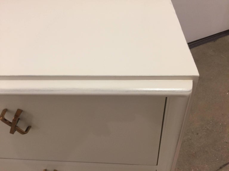 Pair of White Lacquer Nightstands by Paul Frankl 5