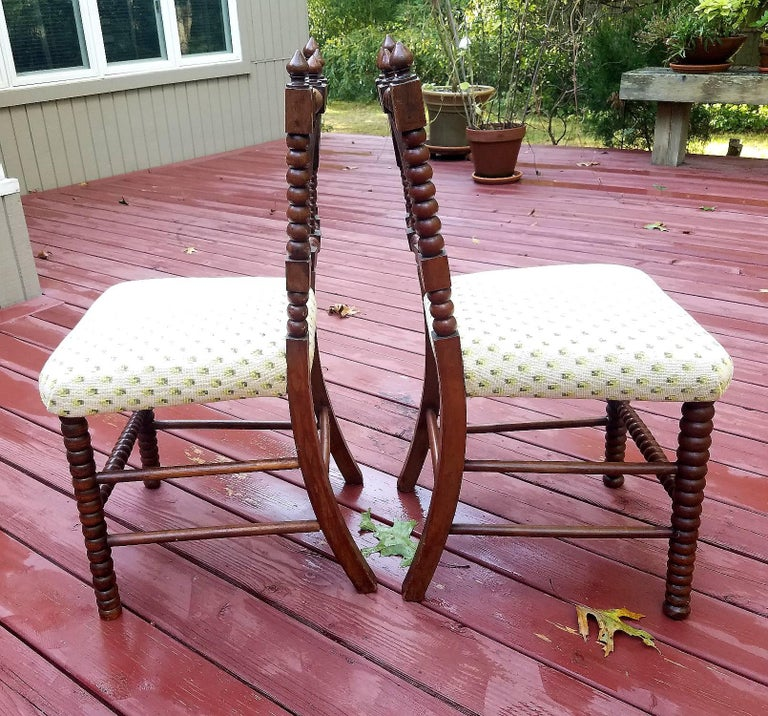 Handsome Pair of Gothic Revival Hall Chairs, circa 1840 4