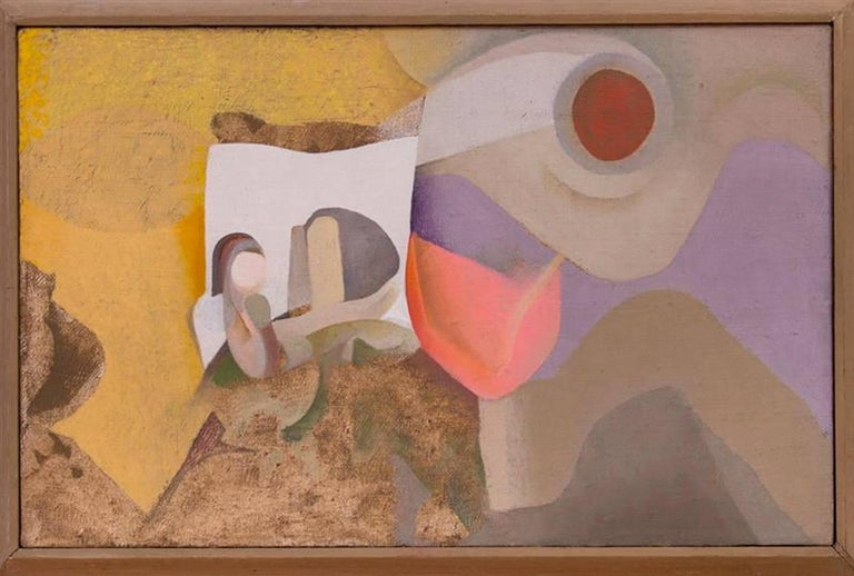 North American Untitled by Allen Atwell, Oil on Linen, 1952 For Sale
