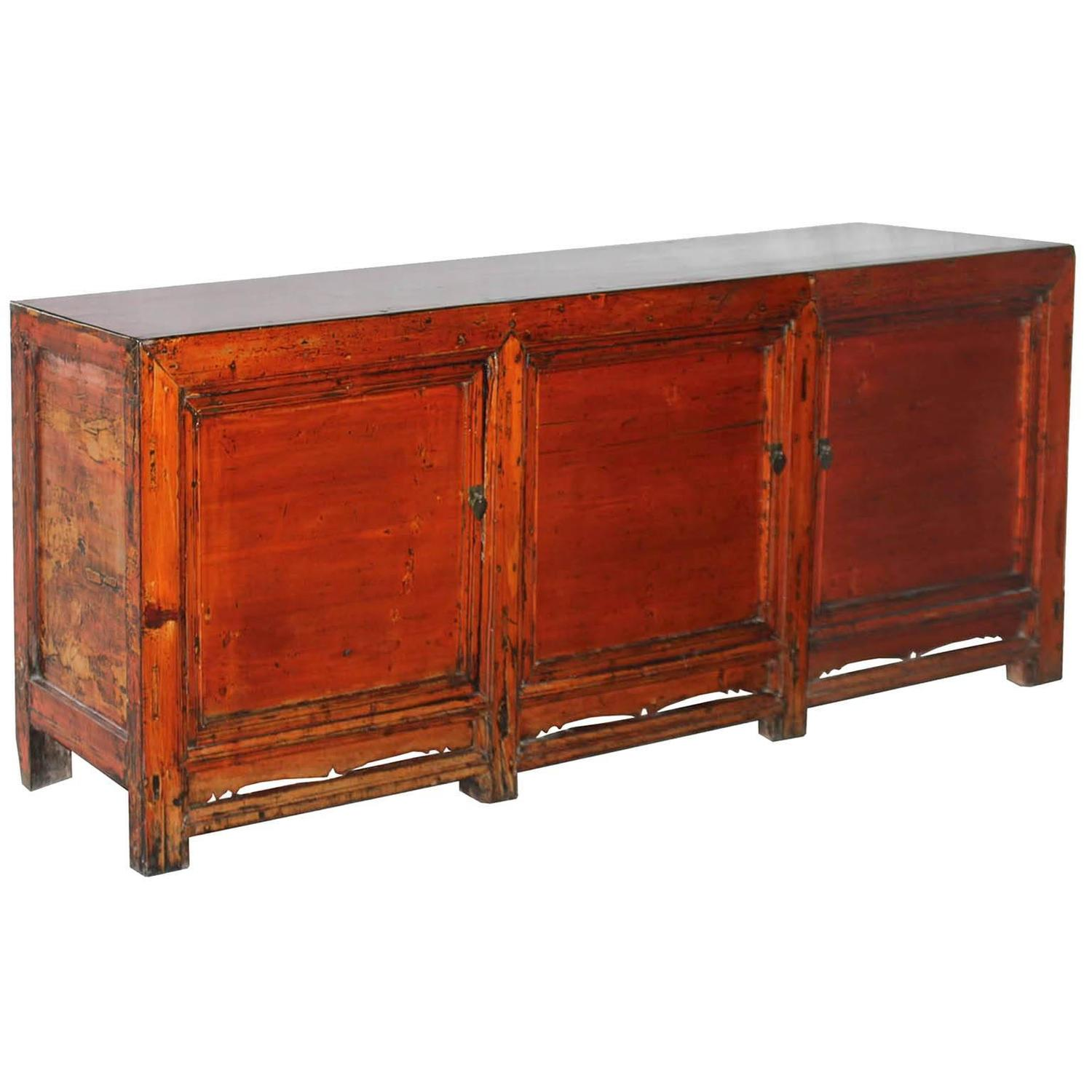 Orange gansu sideboard for sale at 1stdibs for Sideboard orange