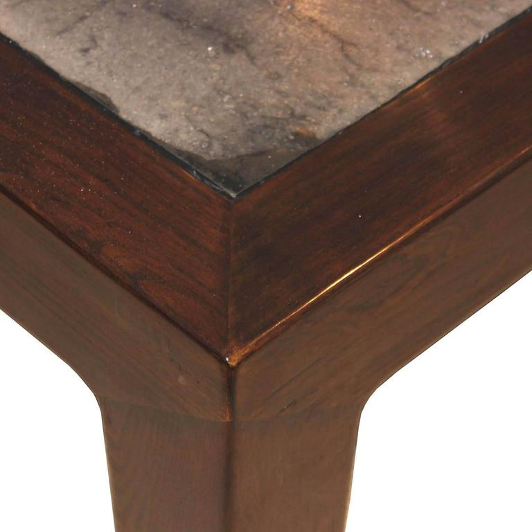 Elm Stonetop Coffee Table In Good Condition For Sale In San Francisco, CA
