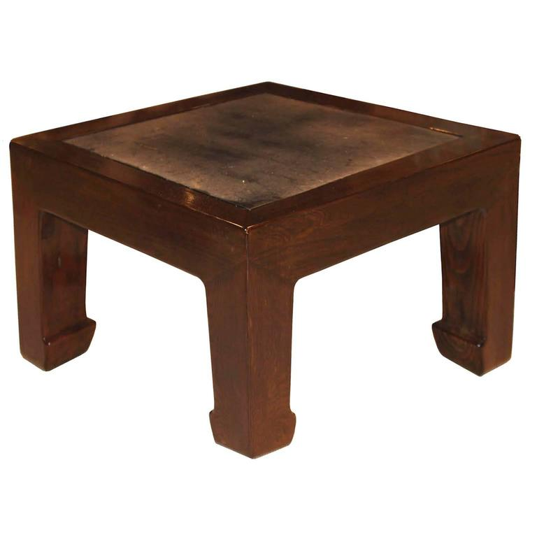 Elm Stonetop Coffee Table For Sale