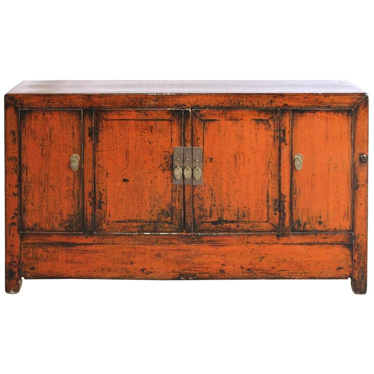Orange dongbei sideboard at 1stdibs for Sideboard orange