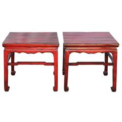 Red Ming-Style Table