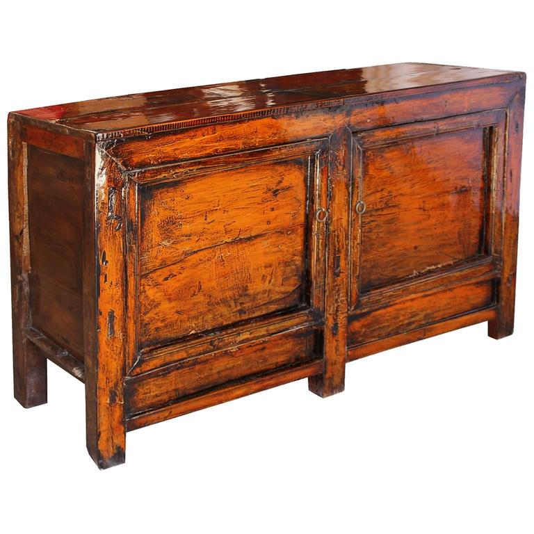 Two door orange sideboard at 1stdibs for Sideboard orange