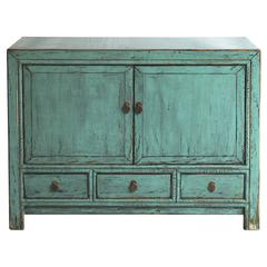 Blue/Green 2-Door Sideboard