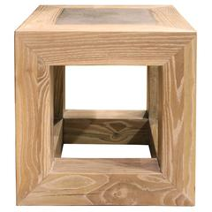 Stone Top Cube Table