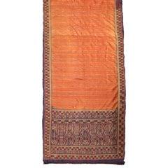 Salmon Silk Sari