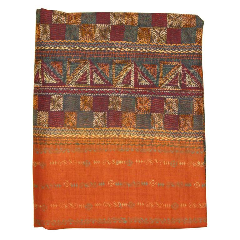 Salmon silk sari for sale at 1stdibs for Sari furniture designer