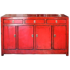 Red Dongbei Sideboard