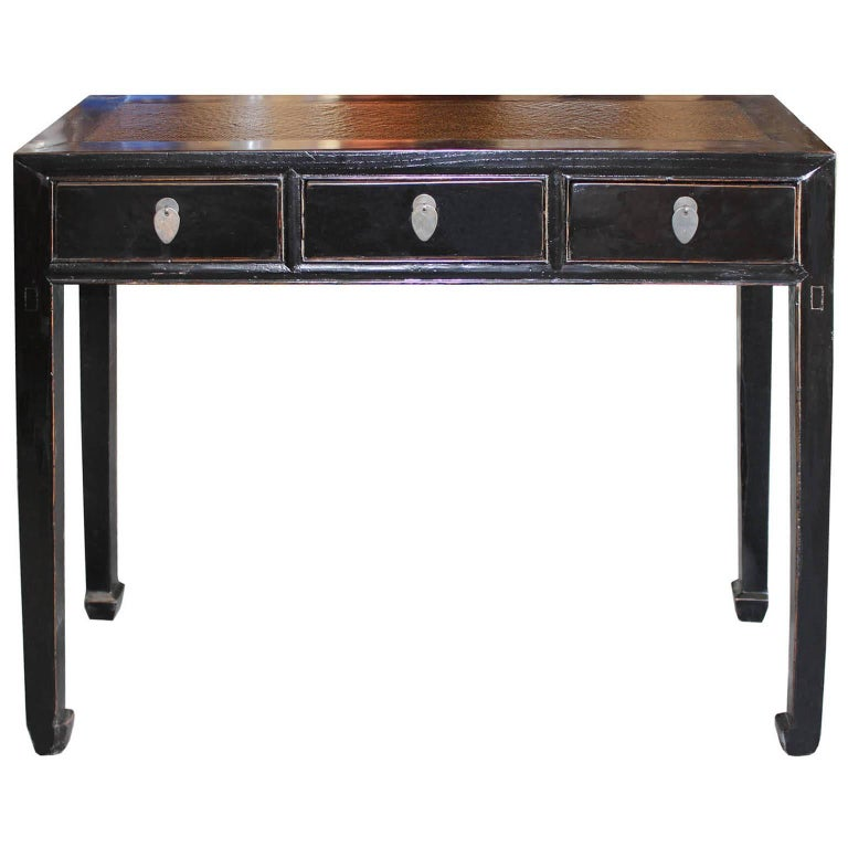 Black Table With Rattan Top For Sale At 1stdibs