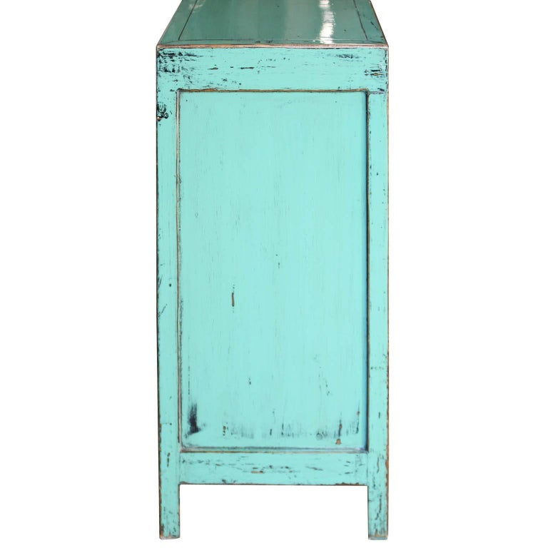 Contemporary Turquoise Chest For Sale