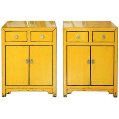 Yellow Two-Drawer Chest