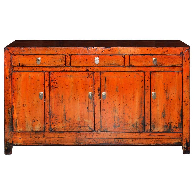 Orange dongbei sideboard for sale at 1stdibs for Sideboard orange