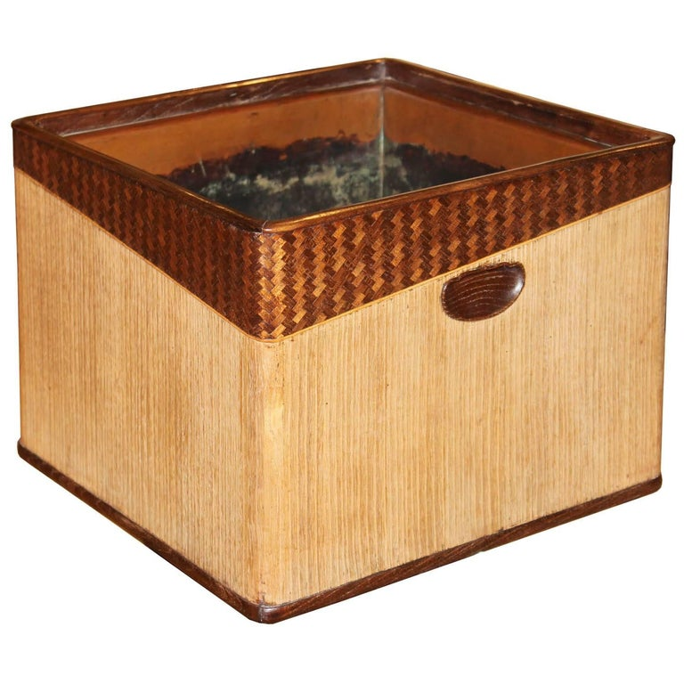 Japanese Kiriwood & Bamboo Hibachi Basket
