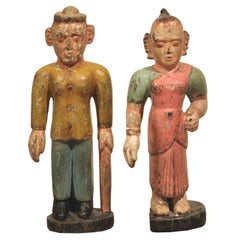 Pair of Indian Folk Figures