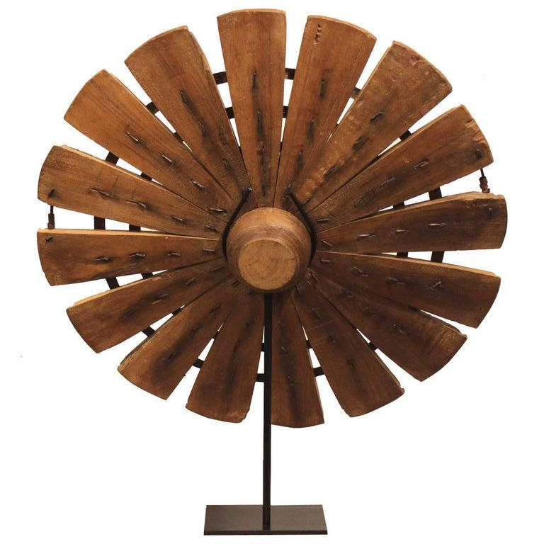 indian teak weaving wheel at 1stdibs