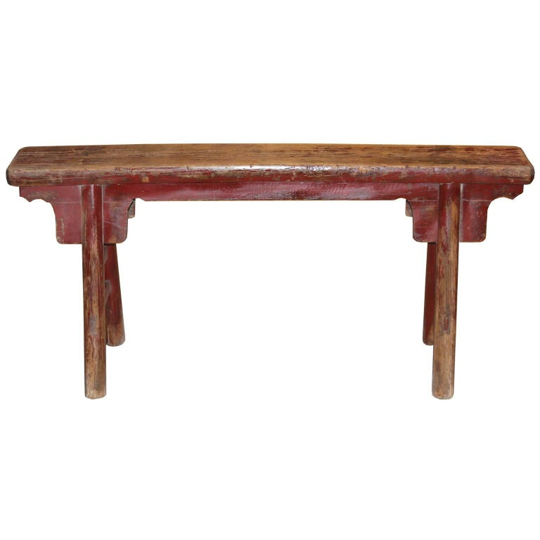 Red Kung Fu Bench