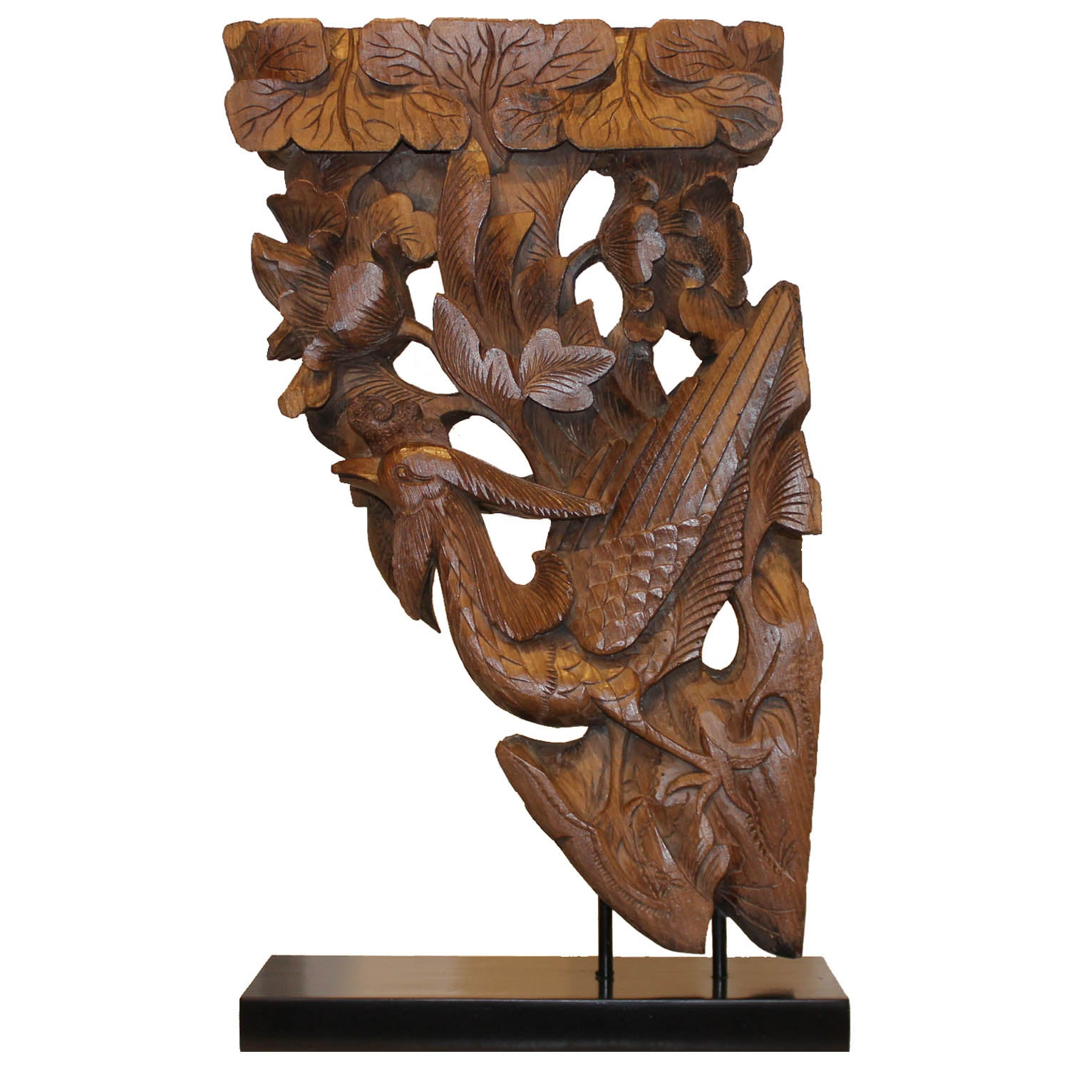 Phoenix Carving on Stand