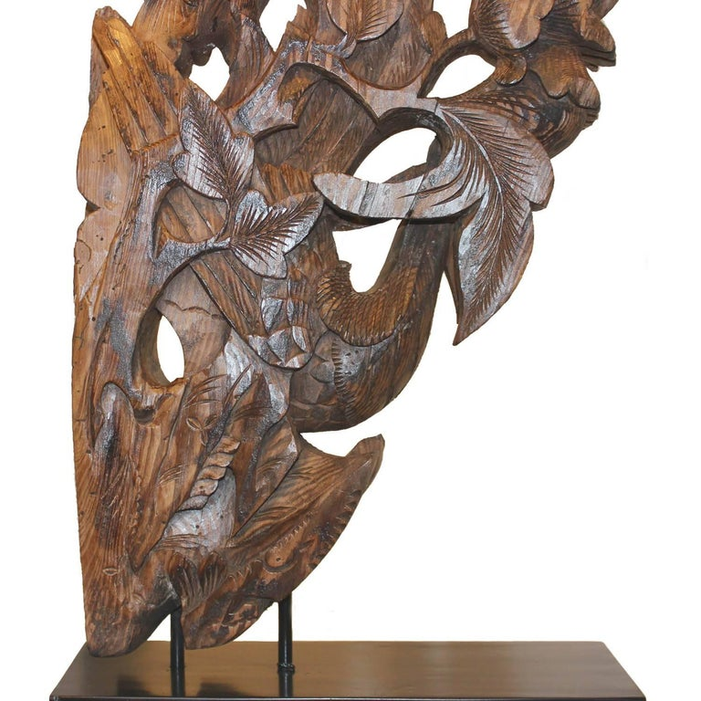 Phoenix Carving on Stand For Sale 2