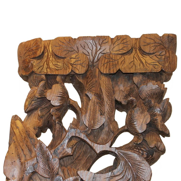 Wood Phoenix Carving on Stand For Sale