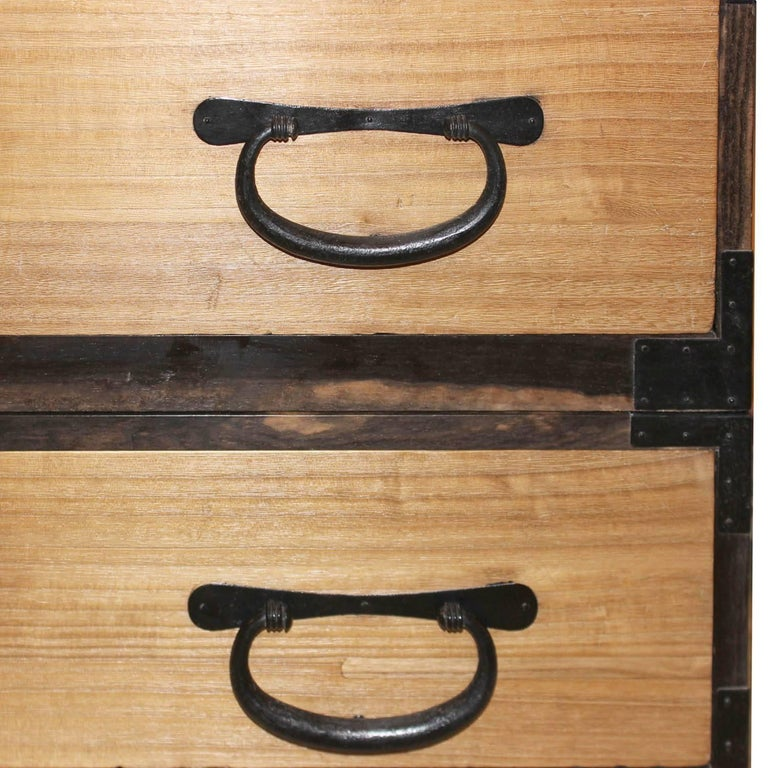 Japanese Kiriwood Clothing Chest For Sale 2