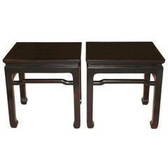 Black Ming-Style Side Table