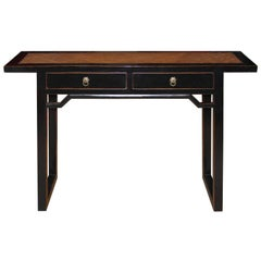 Rattan Top Console Table