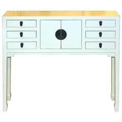 White Multi-Drawer Console Table