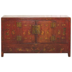 Red Dongbei Wedding Sideboard