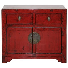 Red Beijing Side Chest