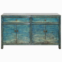 Blue Painted Sideboard