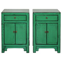 Green One-Drawer Side Chest