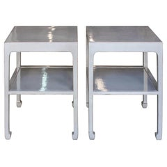 Gray Two-Tier Side Table