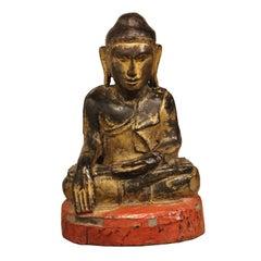 Gold Leaf Sitting Monk