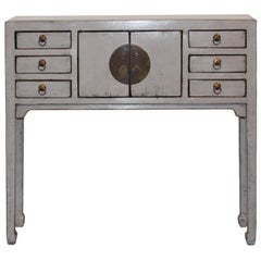 Gray 6-Drawer Console Table
