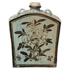 Blue Ceramic Flask