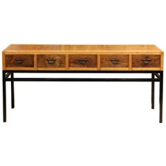 Japanese 5-Drawer Console Table
