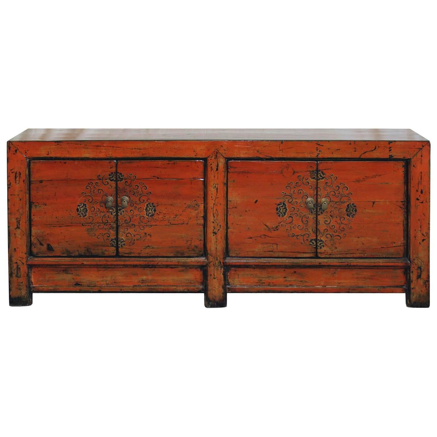 Hand painted mongolian sideboard at 1stdibs for Painted buffet sideboard