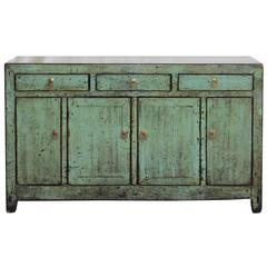 Three-Drawer Green Sideboard
