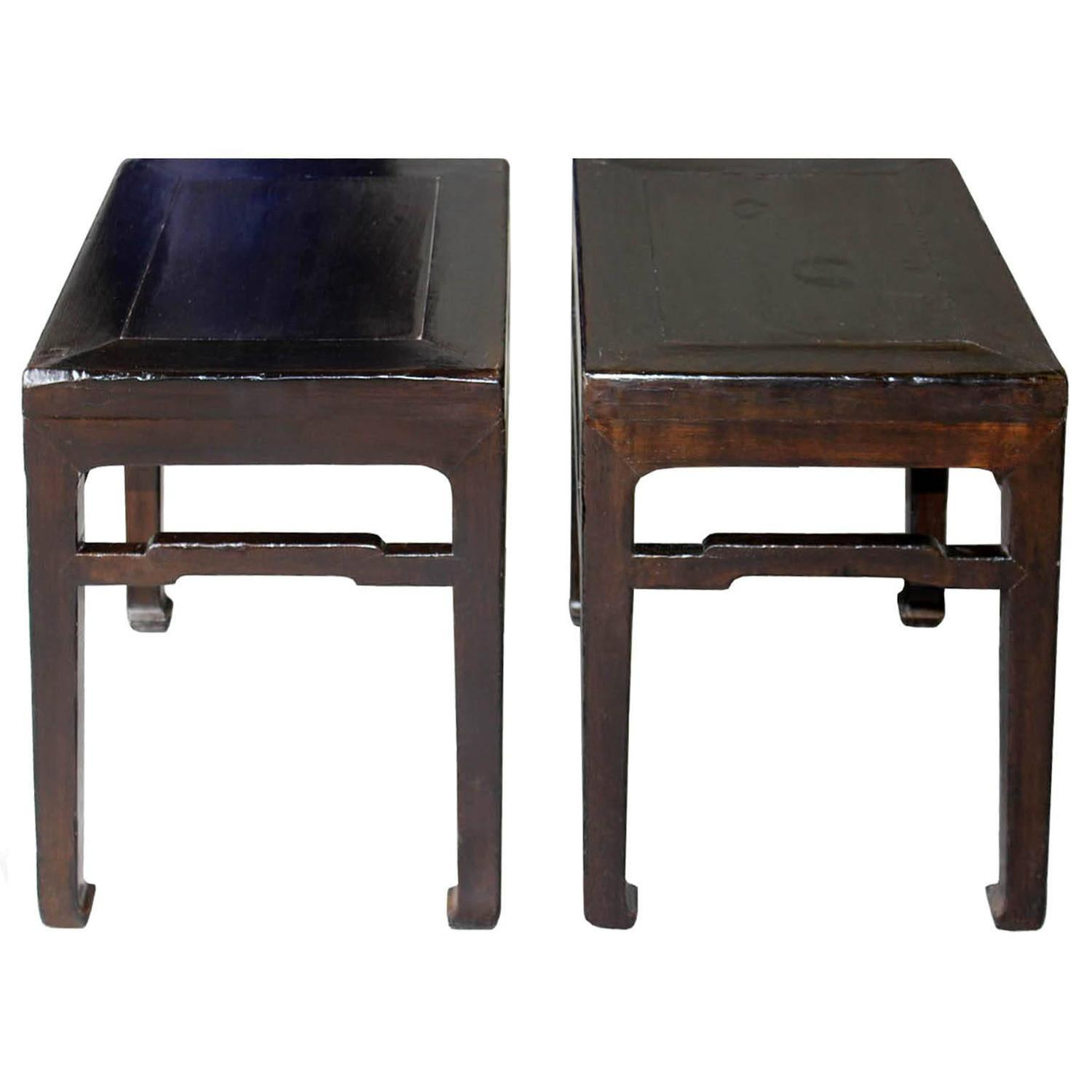 Ming style elm tables pair at 1stdibs for Elm furniture