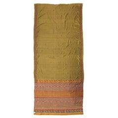 Olive Green Sari