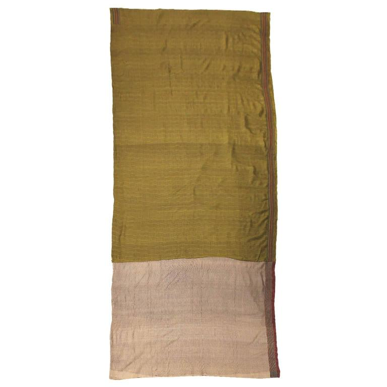 Olive green sari for sale at 1stdibs for Sari furniture designer