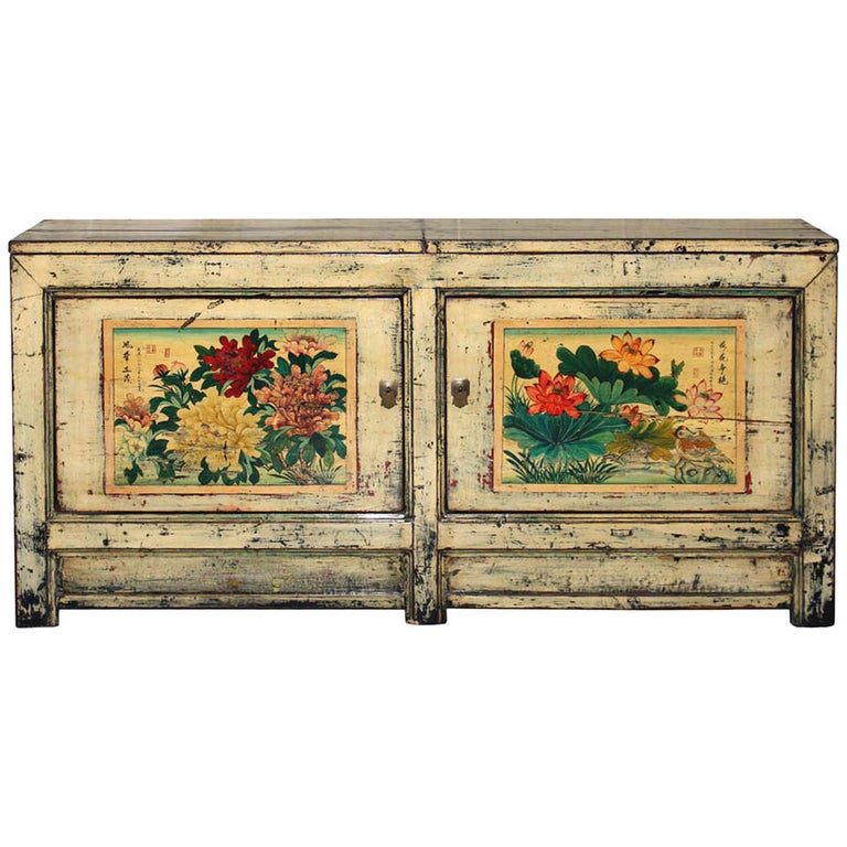 Gansu Painted Buffet For Sale