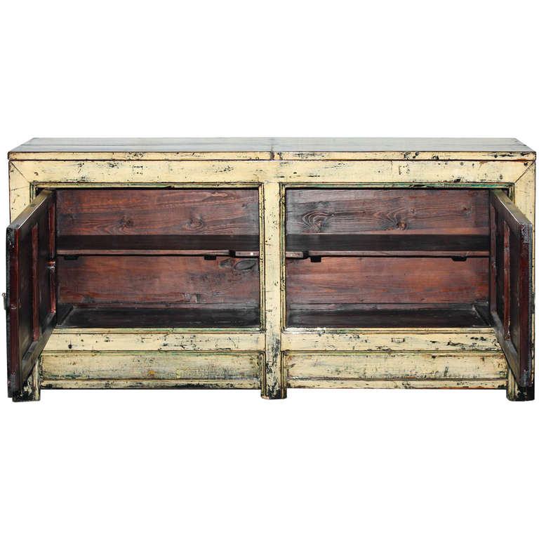 Chinese Gansu Painted Buffet For Sale