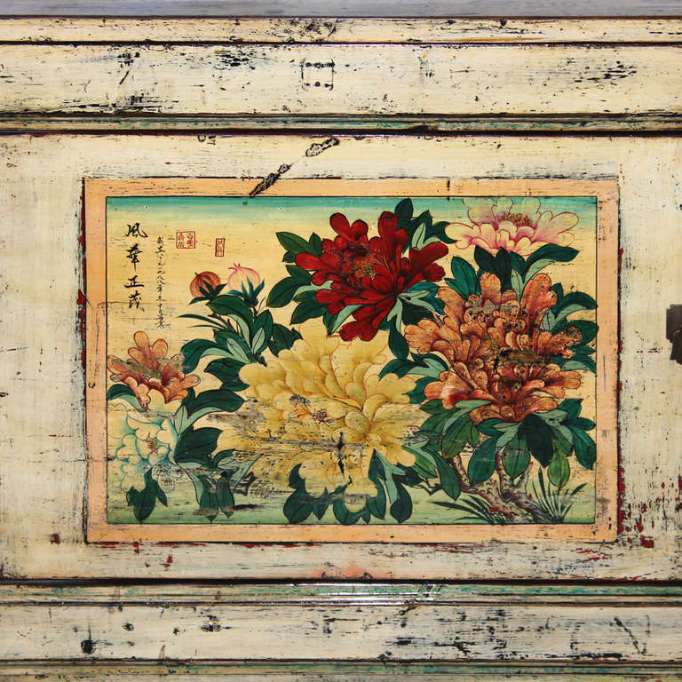 Early 20th Century Gansu Painted Buffet For Sale