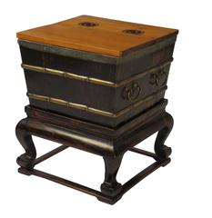 Chinese Ice Chest on Stand, circa 1900
