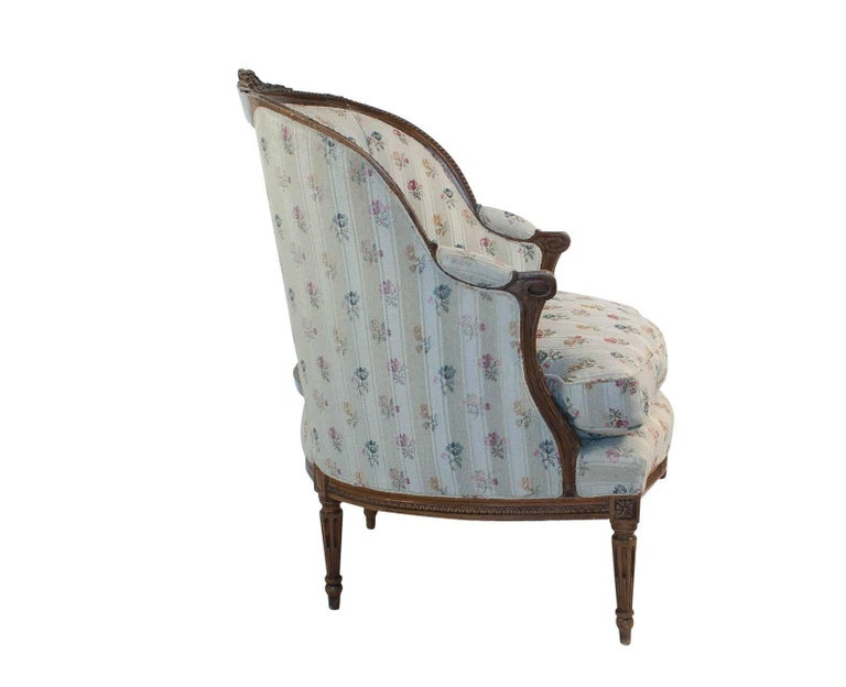 French Fruitwood Louis XVI Style Bergere, circa 1880 For Sale 1