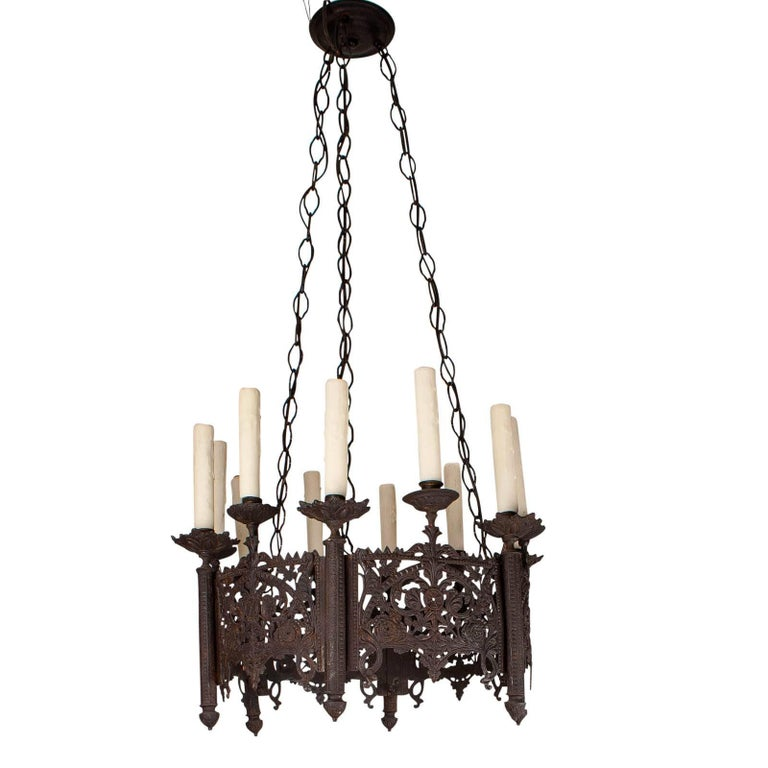 Gothic chandelier late 19th century france for sale at 1stdibs gothic chandelier late 19th century france for sale aloadofball Images