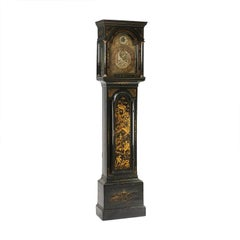 English Early 18th Century Chinoiserie Long Case Clock